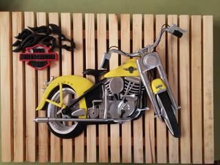 CYLN Design – Dekoratif Ahşap Oyma 1954 Harley Davidson Punhead Model Motor:  tarz
