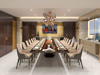 LUXURY PENTHOUSE AT NEAPEANSEA ROAD - MUMBAI Modern dining room by NUOVO IDEAS Modern