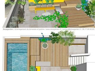 Hồ bơi phong cách hiện đại bởi Slowgarden Hiện đại