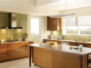 Shades and Blind Control:  Kitchen units by Integrated Home and Office, Modern