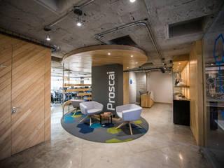 Oficinas Corporativas Proscai Estudios y despachos industriales de JK Arquitectura Industrial