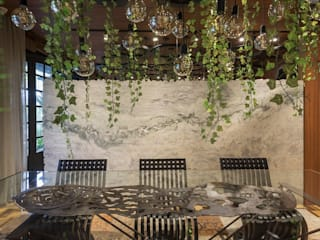 """Sala Viva"" Casa Cor SC 2018 Salas de jantar modernas por ANNA MAYA ARQUITETURA E ARTE Moderno"
