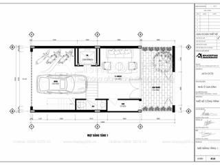 Thiết Kế Nhà Phố 5 Tầng Diện Tích 6×13m Hiện Đại Cổ Nhuế:  Tòa nhà văn phòng by THIẾT KẾ NHÀ ĐẸP 365