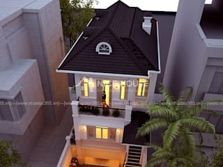 Biệt Thự Phố 2 Mặt Tiền Quảng Ninh:  Khách sạn by THIẾT KẾ NHÀ ĐẸP 365