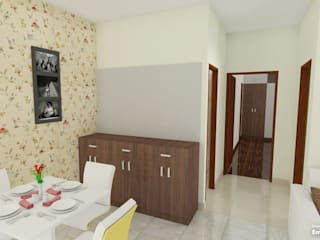 three bhk apartment in bangalore Modern dining room by SSDecor Modern