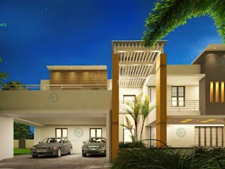 Construction company in thrissur Asian style houses by Prithvi Homes Asian