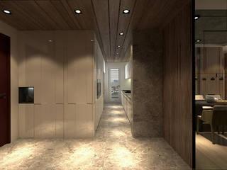 Corridor & hallway by 青易國際設計