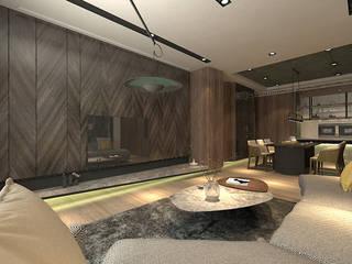 Living room by 青易國際設計