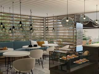 Mos Mimarlık – Cafe Tasarim&Uygulama: modern tarz , Modern