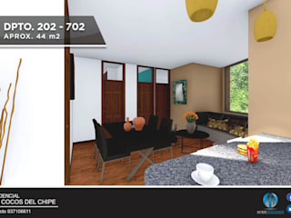 DEPARTAMENTO EN VENTA – NRO 202: Casas multifamiliares de estilo  por Inter Designer
