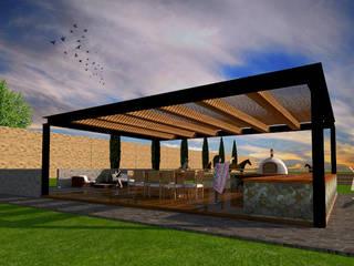 Patios & Decks by AR Arquitectura y Diseño, Rustic