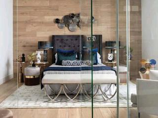 Alfombra en La Dormitorios de estilo moderno de K A Y M A N T A Moderno