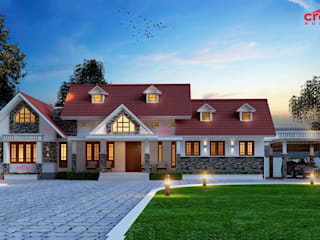 Top Ten Home Designs in Kerala Asian style houses by CreoHomes Pvt Ltd Asian