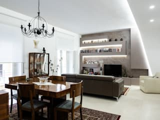 Dining room by piano a, Modern