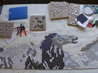 Mosaickitchen:  Badkamer door Atelier De Mozaiekkamer