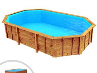 PISCINE LEGNO    novità 2019 : Giardino con piscina in stile  di Piscineitalia