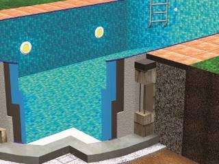 Kit piscina fai da te : Giardino con piscina in stile  di Piscineitalia