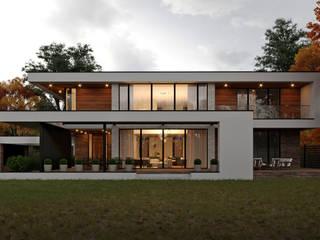 Sboev3_Architect Terrace house Reinforced concrete White