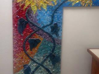 mozaiek zonnebloemen:   door Atelier De Mozaiekkamer