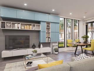 ANTE MİMARLIK Living room Blue