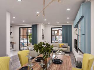 ANTE MİMARLIK Living room Yellow