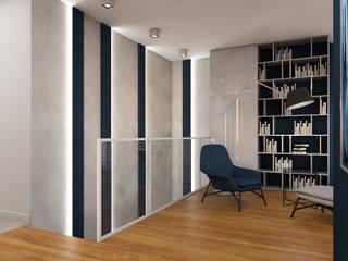 Nowoczesny apartament Nowoczesne ściany i podłogi od MJanimo sp. z o.o Nowoczesny