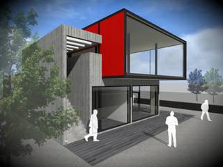 LOCALES COMERCIALES 3D (40m2 - 130m2) de Vicente Espinoza M. - Arquitecto