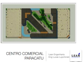 Projeto de Centro Comercial: Centros comerciais  por Lean Engenharia