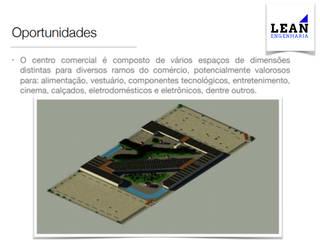 Projeto de Centro Comercial (66.000m²): Centros comerciais  por Lean Engenharia