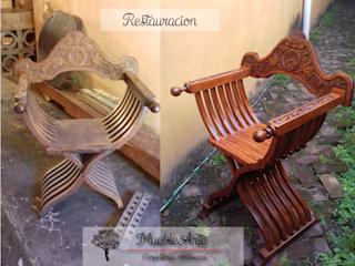 Restauración silla savonalora de MuebleArte