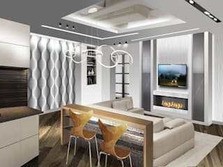 Дизайн - проект интерьера квартиры S - 100 м2: Гостиная в . Автор – idd