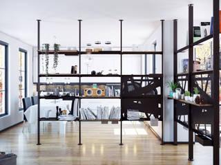 Damiano Latini srl Minimalist living room Aluminium/Zinc Black