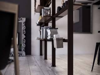 Damiano Latini srl Ruang Studi/Kantor Minimalis Aluminium/Seng Black