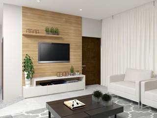 Livings de estilo minimalista de Karine Battu Arquitetura Minimalista