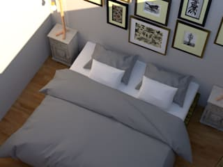 غرفة نوم تنفيذ S'PACE HABITAT / S'PACE HOME DESIGN