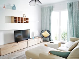 Housing & Colours Modern Living Room Wood Turquoise