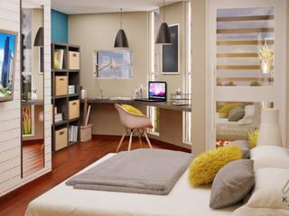 Modern Bedroom by KORBA Arquitectos Modern