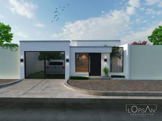 Casas de estilo  de LOPSAN ARQUITECTOS, Moderno