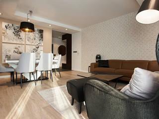 apartament//100m Klasyczny salon od TOTAMSTUDIO pracownia architektury wnętrz Klasyczny