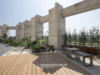 新綠境實業有限公司 Asiatischer Balkon, Veranda & Terrasse Holz-Kunststoff-Verbund Holznachbildung