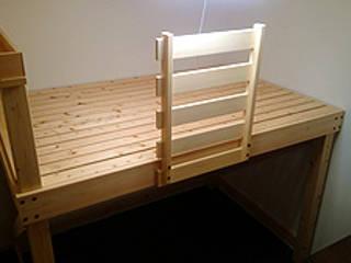 ベッドフレームのオーダーメイドをお受けいたします。: 阿部建設が手掛けた折衷的なです。,オリジナル