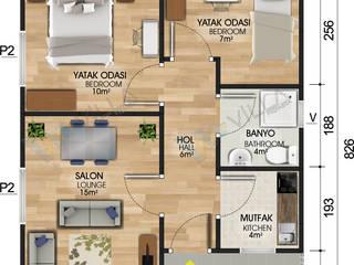 53 m2 tek katlı prefabrik ev - 45.125 TL VİLLA DİZAYN PREFABRİK Modern