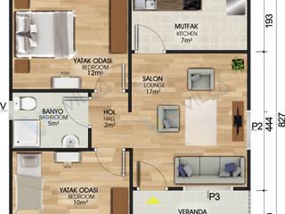 62 m2 tek katlı prefabrik ev - 49.000 TL VİLLA DİZAYN PREFABRİK Modern