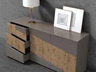 Decordesign Interiores Dining roomDressers & sideboards Chipboard Grey
