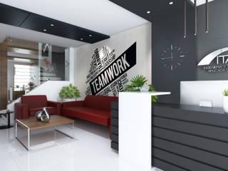 proyecto ITASA Estudios y despachos modernos de Hernández arquitectos Moderno