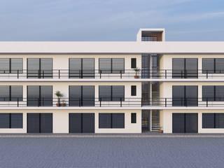 DEPARTAMENTAL OCOTLÁN DE MORELOS Hoteles de estilo moderno de Carlos García Arquitectos Moderno