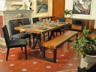 Segusino Muebles Condesa Dining roomTables Iron/Steel Wood effect