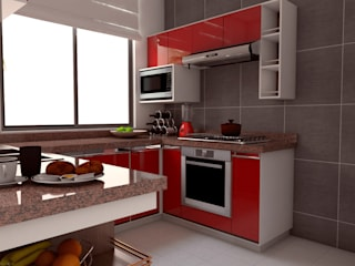 Kitchen by DISARQ ARQUITECTOS.
