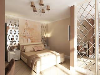 Дом в Ленинградской области : Спальни в . Автор – Дизайн Интерьера
