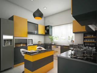 Best kitchen designs in Kerala - Monnaie Architects & Interiors by Monnaie Architects & Interiors Modern